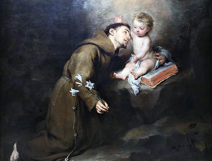 """Bartolomé Esteban Murillo, """"San Antonio de Padua y el Niño,"""" c. 1668"""