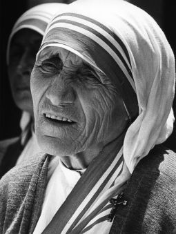 Mother Teresa is pictured during a visit to California in an undated file photo.