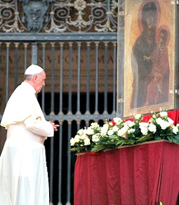 Pope Francis leads a prayer vigil for peace in Syria in St. Peter's Square on Sept. 7.