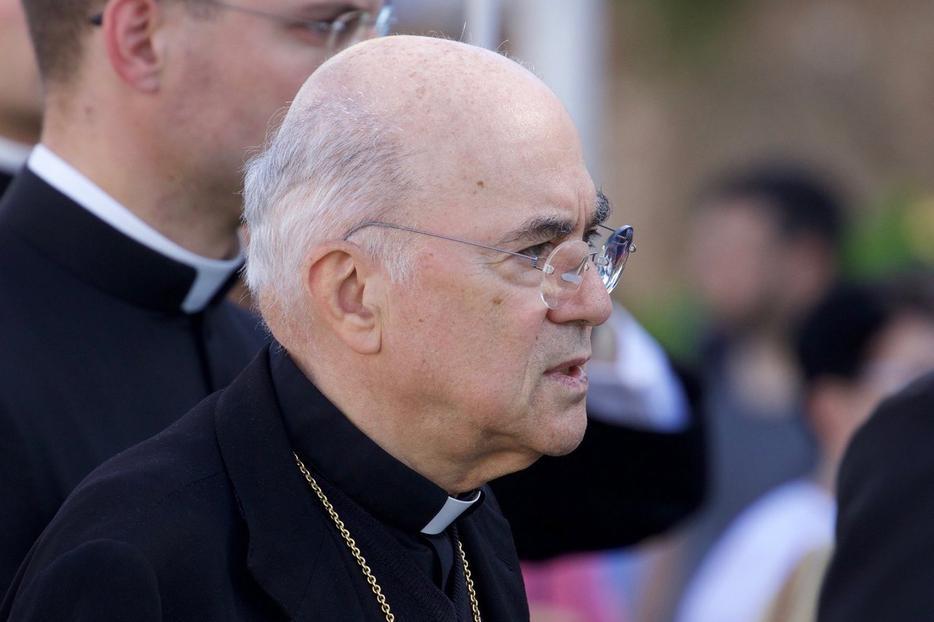 Archbishop Carlo Maria Vigano at the Rome March for Life, May 20, 2017.