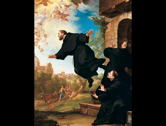 """Ludovico Mazzanti (1686-1775), """"Saint Joseph of Cupertino"""""""