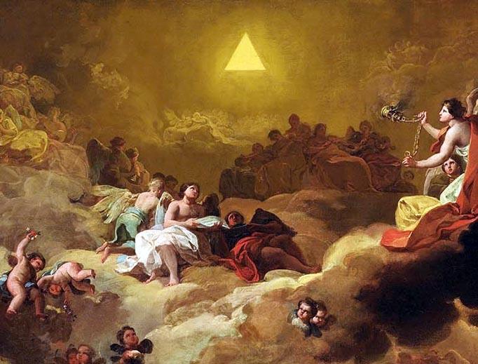 """Francisco Goya, """"La Gloria o la Adoración del Nombre de Dios,"""" 1771"""