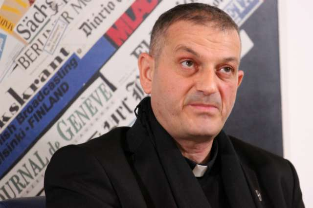 Father Jacques Mourad, who was held captive by the Islamic State for nearly five months in 2015.