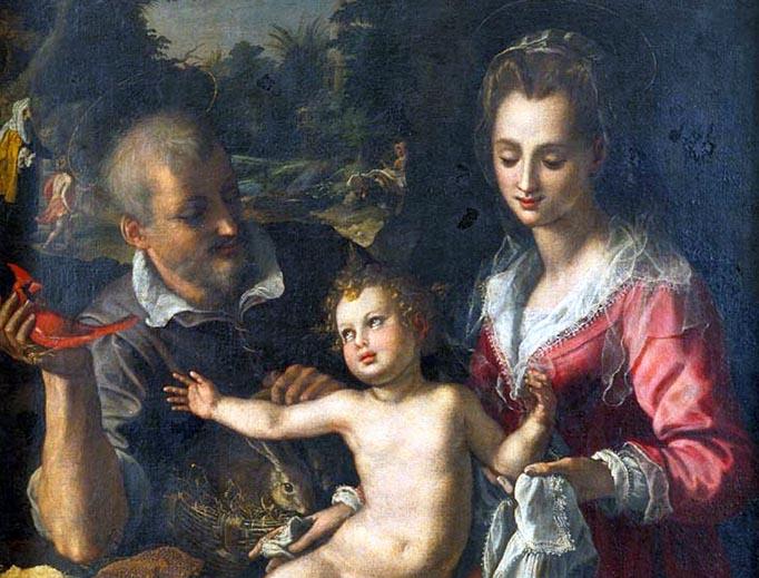 """Alessandro Allori, """"The Holy Family,"""" 1602"""