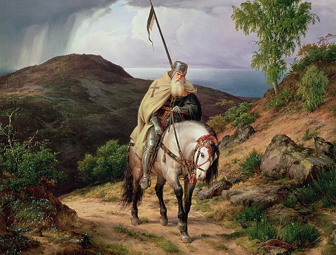 "Karl Friedrich Lessing (1808-1880), ""The Return of the Crusader"""