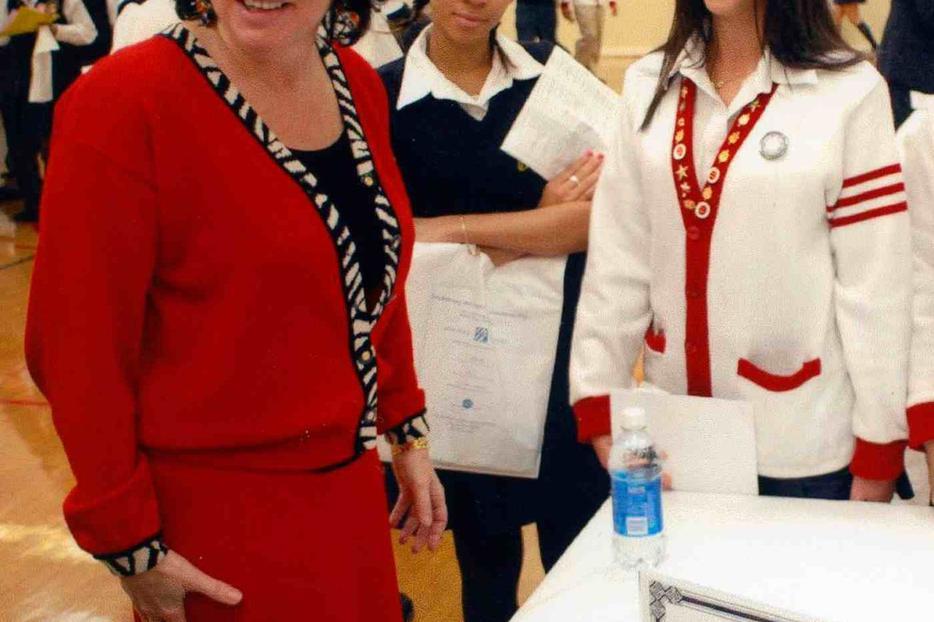 Sonia Sotomayor visits her alma mater, Cardinal Spellman High School in the Bronx.