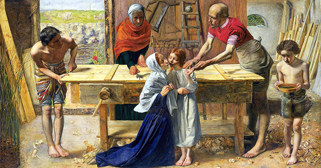 """John Everett Millais, """"Christ in the House of His Parents"""" (1849-1850)"""