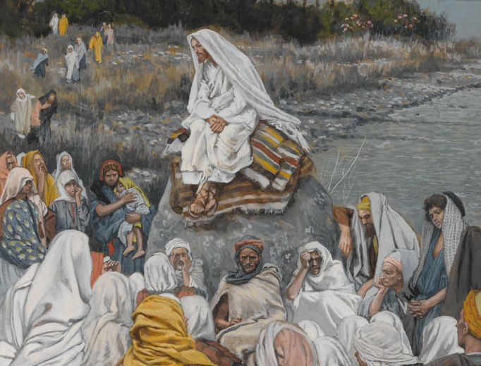 """James Tissot (1836-1902), """"Jesus Sits by the Seashore and Preaches"""""""
