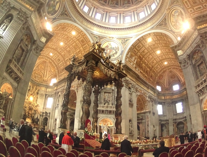 Above, Nov. 19, 2016, consistory in St. Peter's Basilica.