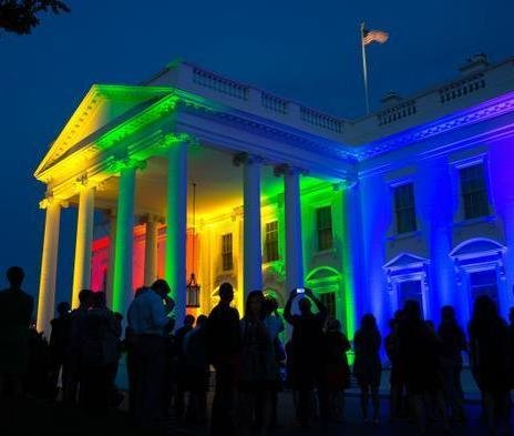 Photo posted on the White House Twitter page following the Supreme Court decision on same-sex marriage this June.