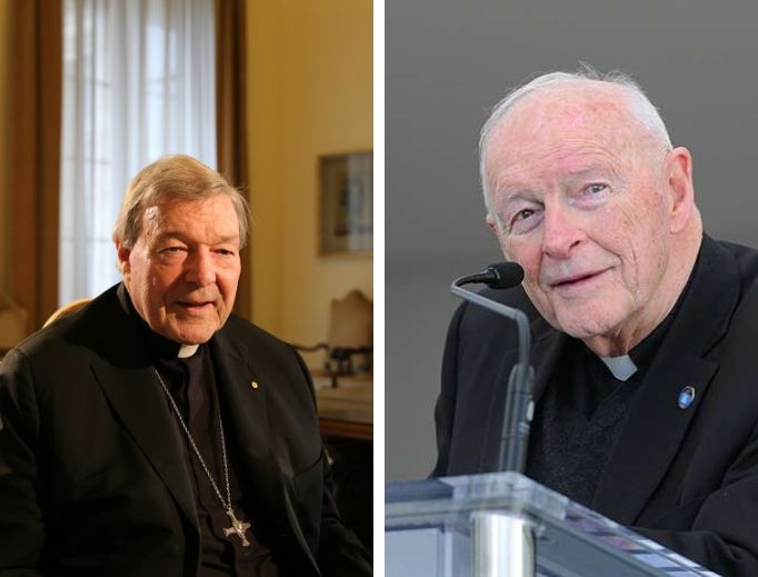 Cardinal George Pell (l) and Theodore McCarrick (r)