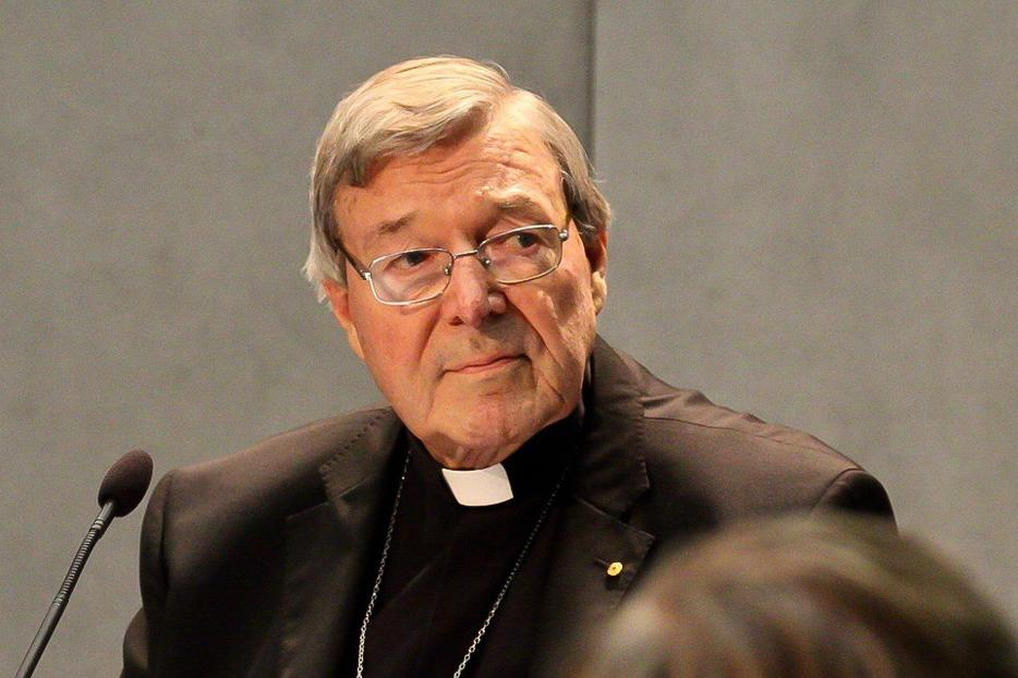 Cardinal George Pell at a Vatican press conference during which he announced his decision to return to Australia to face charges of sexual abuse. June 29, 2017.