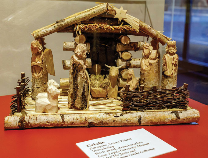 'Christmas in Poland' showcases a variety of wooden and tinsel crèches, as well as a display on Christmas Eve traditions.