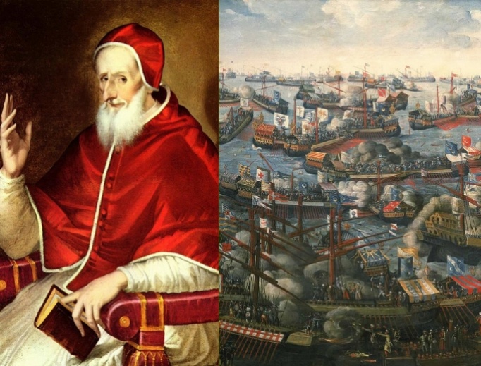 Pope Pius V reformed the Church and put a Christian fleet into action at the epic battle at Lepanto in 1571.