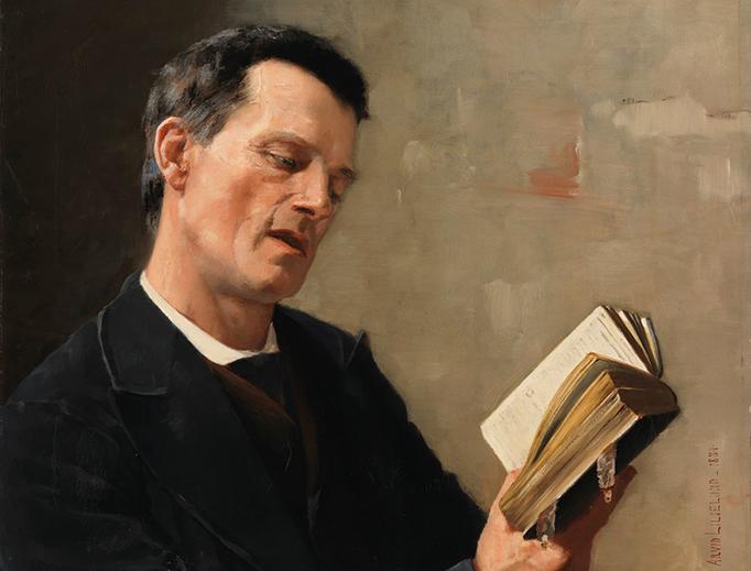 """Arvid Liljelund, """"Man Singing Hymn"""", 1884"""