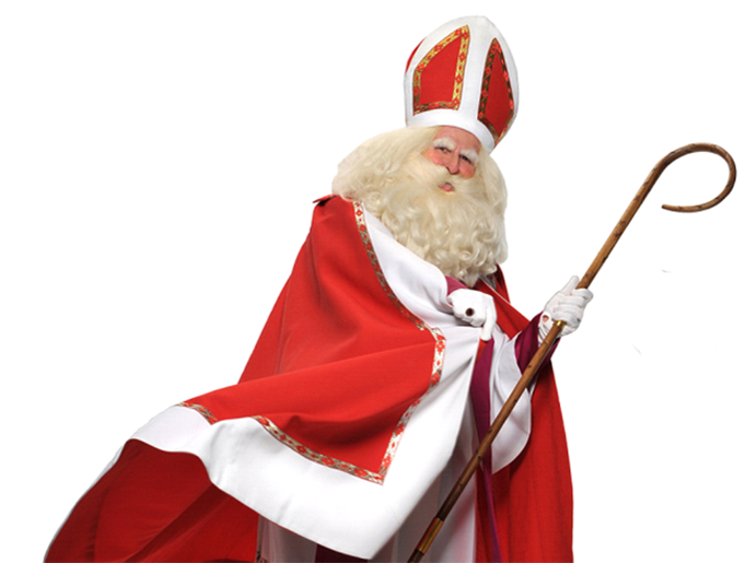 Father Joseph Marquis in one of his portrayals of St. Nicholas and Santa