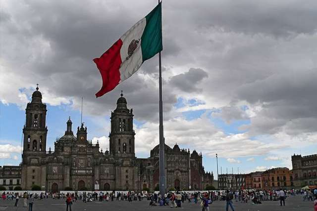 Zocalo and the Mexican City Metropolitan Cathedral