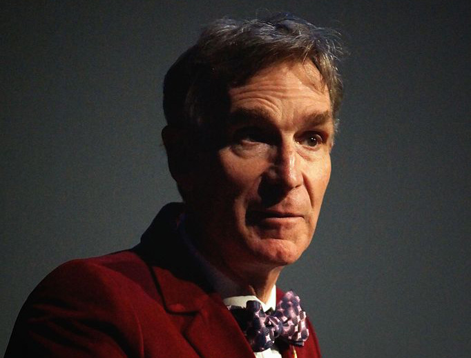 Bill Nye addresses a conference in New York City in 2015.