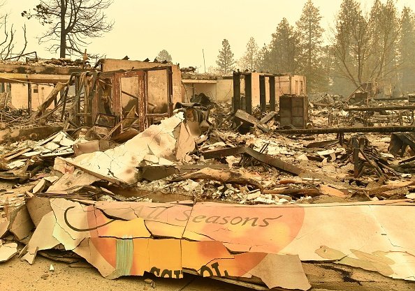 Paradise Elementary School is seen Nov. 12 after burning down during the Camp Fire in Paradise, California.