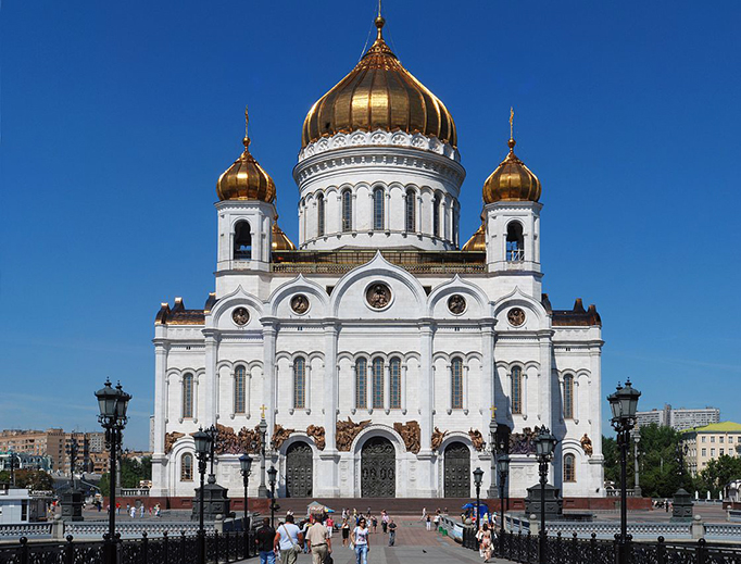 The Cathedral of Christ the Savior in Moscow.