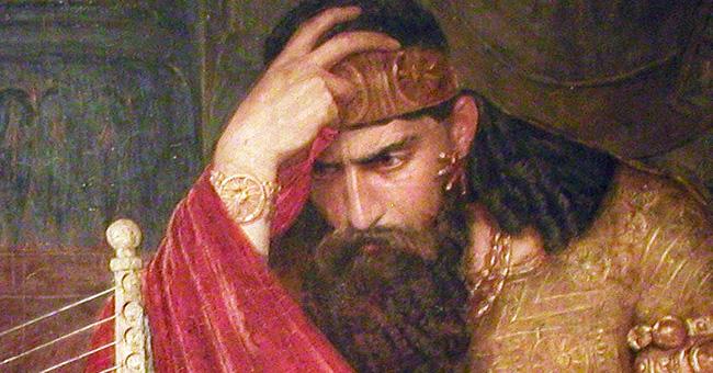 "Ernst Josephson (1851-1906), ""David and Saul"" (Detail)"