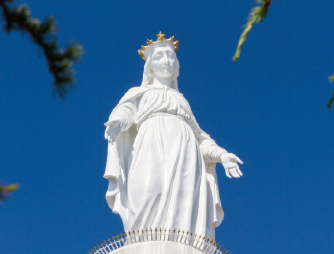 The Shrine of Our Lady of Lebanon is a Marian shrine and a pilgrimage site in Lebanon.
