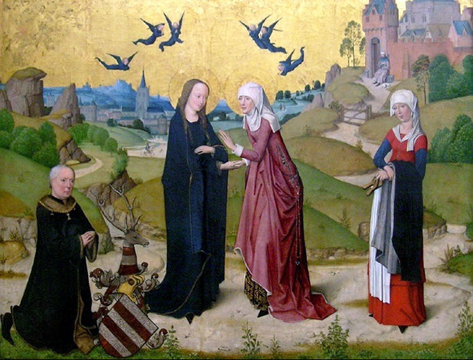 "Master of the Life of the Virgin, ""The Visitation"", 15th century (via Wikimedia Commons)"