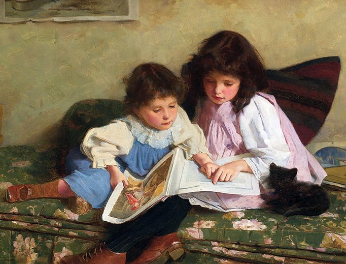 """Carlton Alfred Smith, """"The First Lesson"""", 1893"""