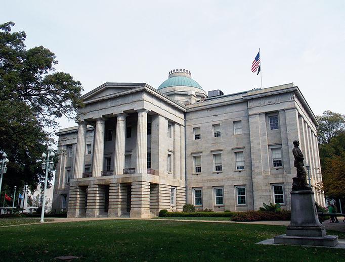 The North Carolina State Capitol in Raleigh, North Carolina.