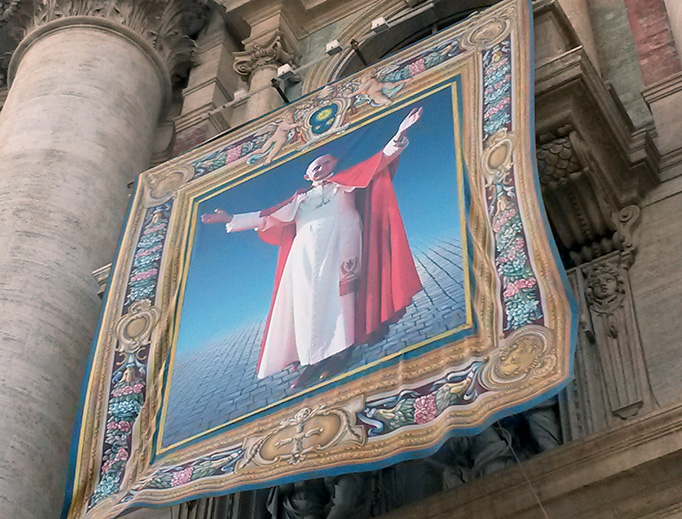 Image from the beatification of Paul VI Oct. 19, 2014. He will be canonized Oct. 14, 2018.