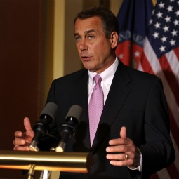 House Speaker John Boehner (R-OH) make remarks to the media as Congressional negotiations continue in an attempt to break an impasse in funding the federal budget through the end of the fiscal year to avoid a government shutdown, on Capitol Hill, Washington April 8. With a government shutdown looming in hours, the White House and Congress worked furiously on Friday to reach a U.S. budget deadlock and prevent a deadlock that would idle hundreds of thousands of workers.
