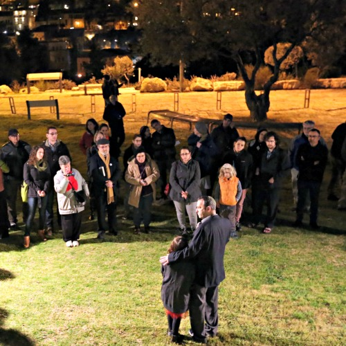 Tag Meir, a coalition of 40 Israeli Jewish organizations promoting an end to hatred, held a vigil on Feb. 26, the day suspected Jewish extremists torched a Greek Orthodox seminary in Jerusalem.