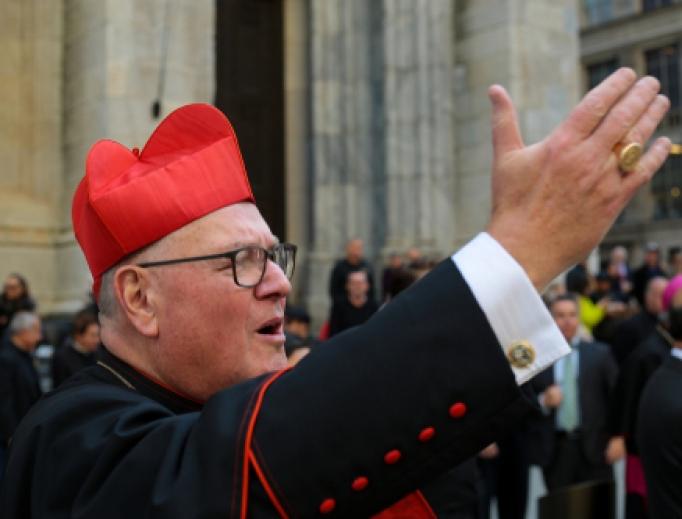 Cardinal Dolan at the 75th annual NYC Columbus Day Parade, October 14, 2019.