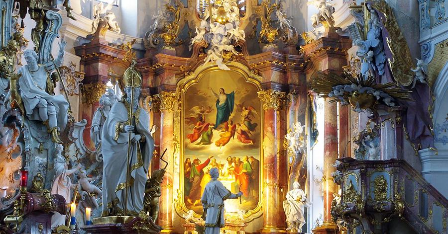 The high altar of the Vierzehnheiligen