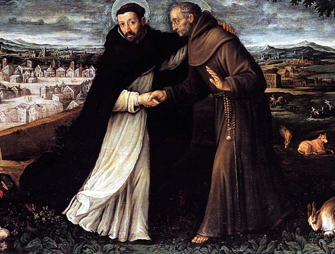 """Angelo Lion, """"St. Dominic and St. Francis"""", early 17th century"""