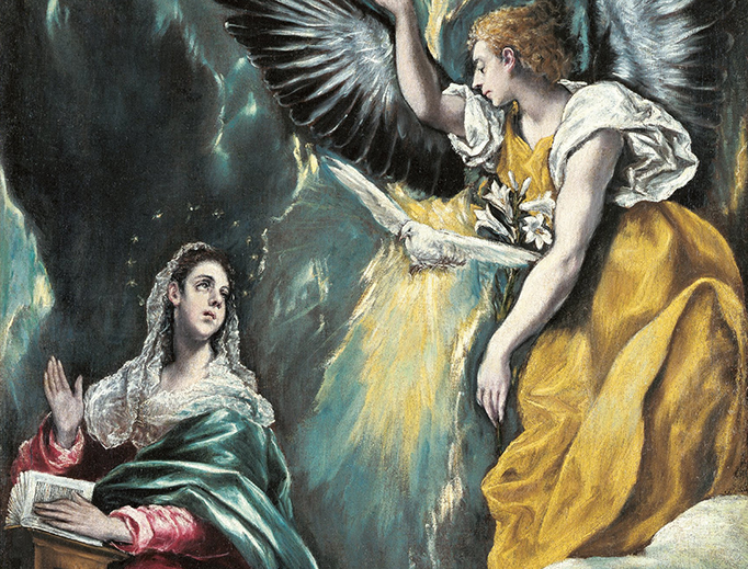 "El Greco, ""The Annunciation,"" c. 1600"