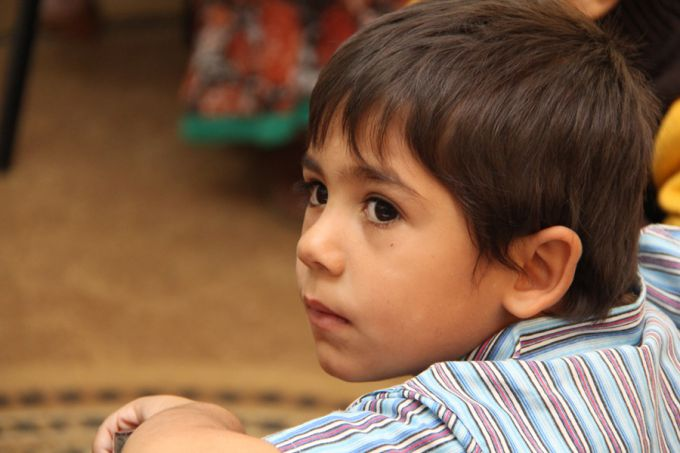 A young Syrian refugee at school in Ramtha, Jordan, on Oct. 27, 2014.
