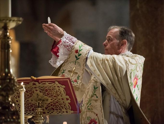 Archbishop Alexander Sample celebrates Mass April 28.