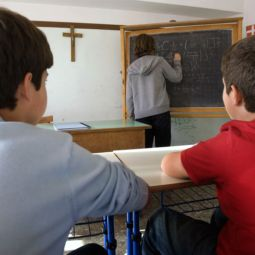 A crucifix hangs in a school classroom in Rome in this 2009 file photo. A European human rights court ruled March 18 that crucifixes are acceptable in public schools. The decision effects the 47 countries of the European Union.