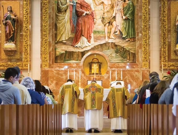 St. John the Baptist in Costa Mesa, California, makes the sacraments readily available.