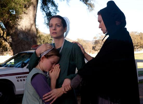 PAIN AND HEALING. 'God has shattered my heart,' says Kimberly Williams-Paisley's character, a bereaved mother, in 'Amish Grace.'
