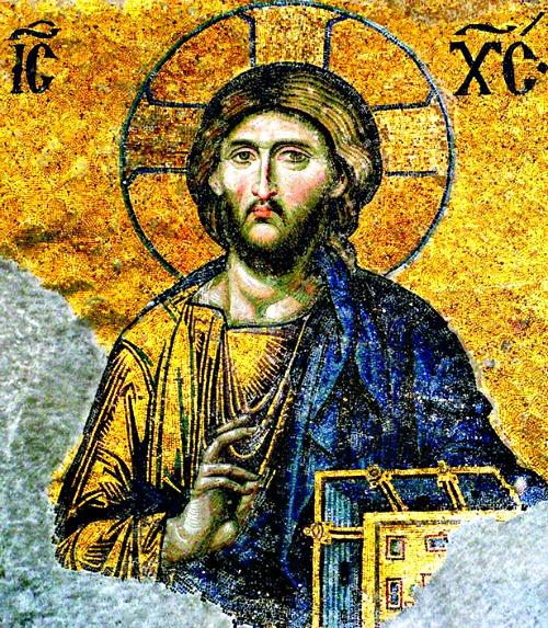 Christ Pantocrator mosaic, Hagia Sophia, Turkey