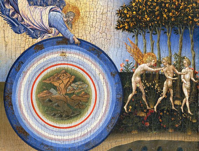 "Giovanni di Paolo di Grazia, ""The Creation of the World and Expulsion from Paradise,"" 1445"