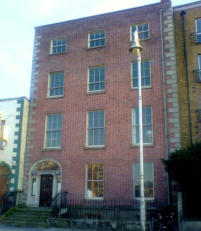 """15 Usher's Island, Dublin city. The real-life location of the fictional Morkan sisters' home in James Joyce's """"The Dead""""."""