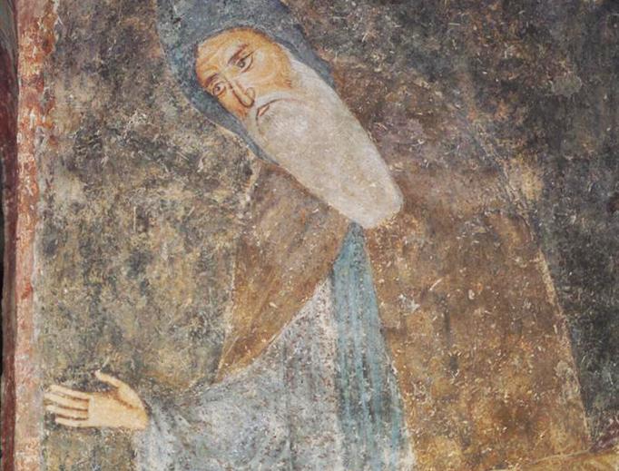 Fresco from Sopoćani monastery, Serbia (late 13th century)