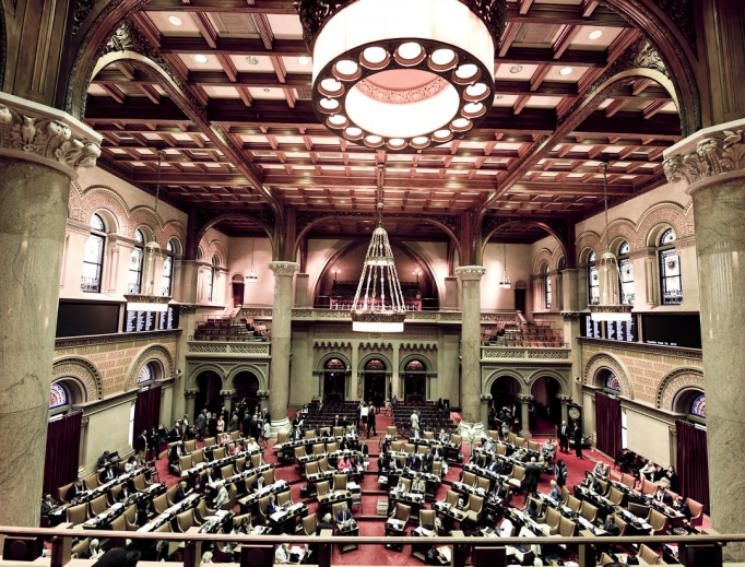 The issue of surrogacy is being taken up in the New York state Assembly, shown debating legislation June 18. The state Senate passed the Child-Parent Security Act, which was strongly opposed by feminists like Gloria Steinem as well as the New York Catholic Conference.