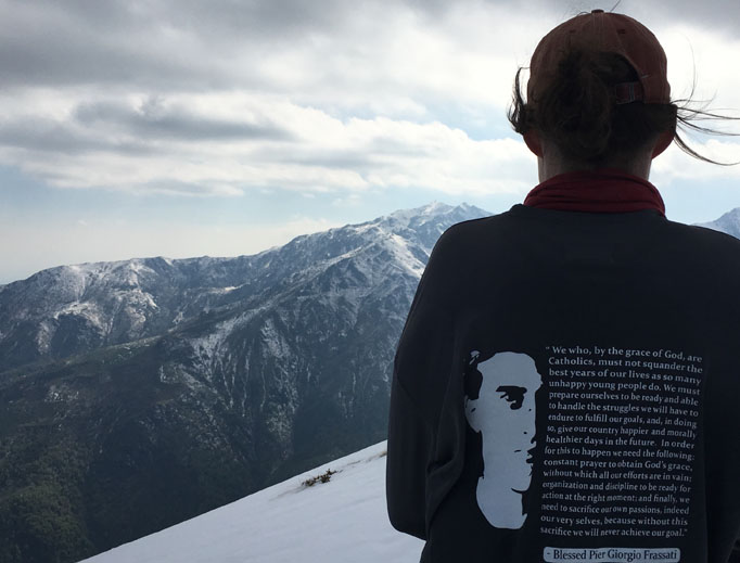 Pilgrims find places of prayer amid the mountains and in the Frassati summer home and shrine in Pollone, Italy, where Blessed Pier Giorgio Frassati enjoyed hiking. Sarah Harmon, a residence director at Franciscan University's Gaming, Austria, campus, takes students on pilgrimages to the Frassati mountain retreat.