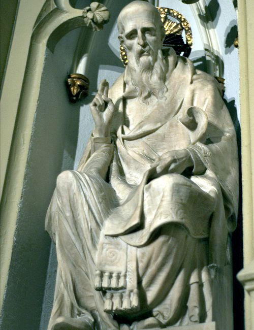 St. John Chrysostom (statue at St. Patrick's Cathedral in New York City pictured above) said, 'Not to enable the poor to share in our goods is to steal from them and deprive them of life. The goods we possess are not ours, but theirs.'