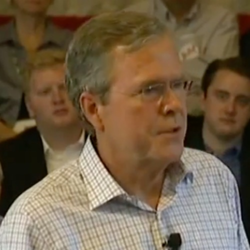 Republican presidential candidate Jeb Bush discusses climate change during a June 16 campaign town hall in Derry, N.H.