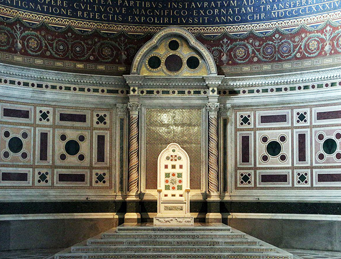 The cathedra at St. John Lateran, the cathedral of Rome